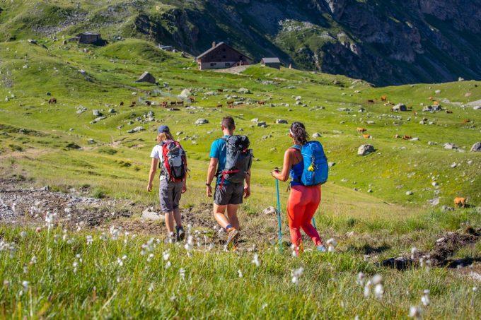 Arrivée vers les refuges de l'Alpe