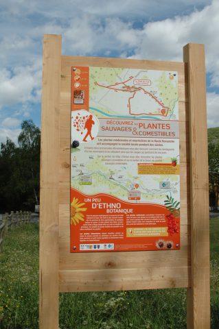 Panneau accueil sentier plantes comestibles
