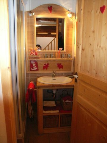 salle de bain de l'appartement «les lutins» à Venosc