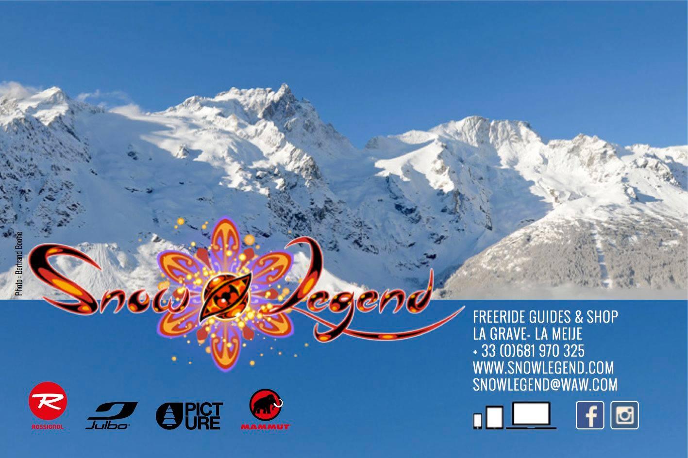 Stages de Ski / Snowboard freeride, Randonnée, Splitboard avec SnowLegend