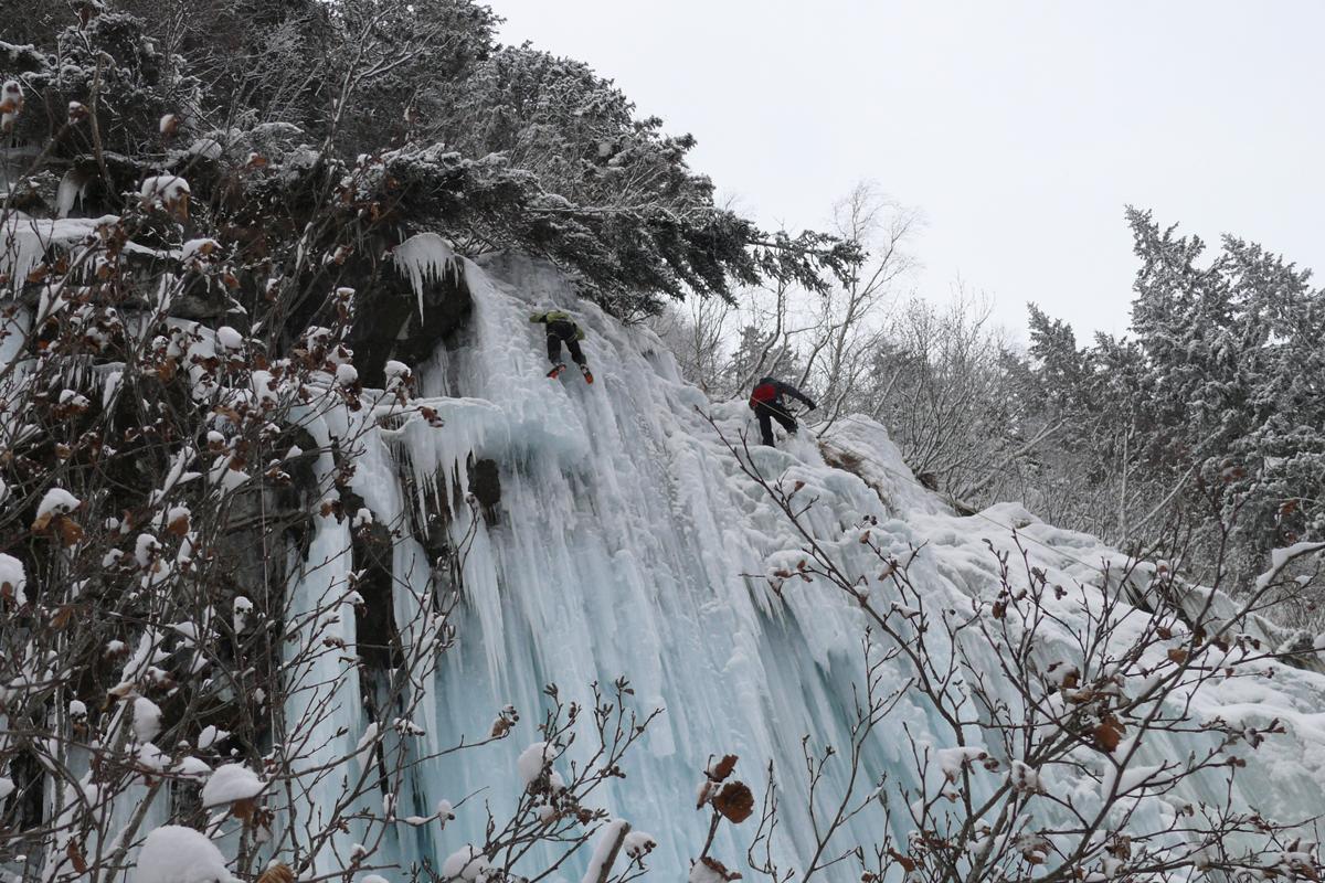 Cascades de glace dans la Vallée du Vénéon (3)