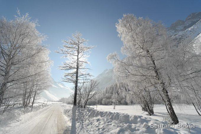 Route d'acces au Domaine Nordique du Pays de la Meije