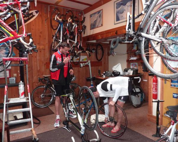 Le local de réparation vélos