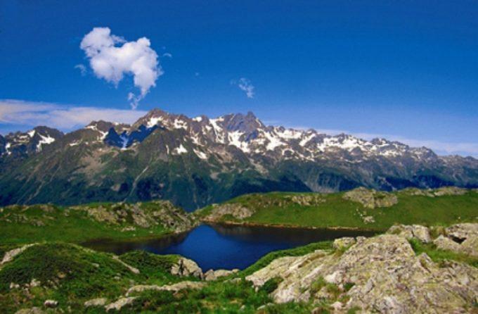 Plateau de l'Alpette, le lac Besson et le lac Noir