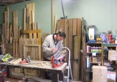Démonstration de découpe à l'atelier Alpe d'Huez Chantournage