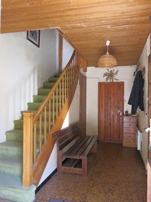 Escalier donnant aux chambres