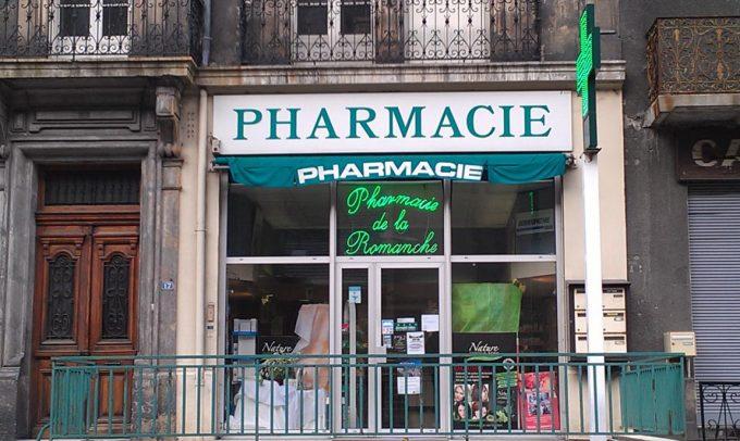 La devanture de la pharmacie