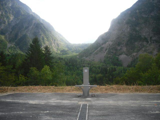 emplacement de la borne technique Camping car