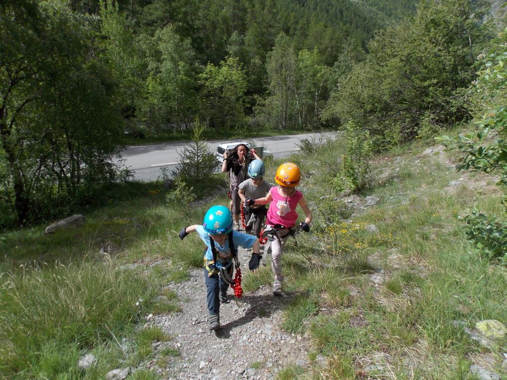 Le petit parcours des mines en via cordata, avec Odile monitrice d'escalade (6)