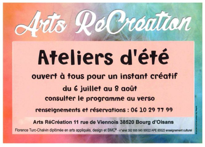 Arts Récréation _ Ateliers d'été