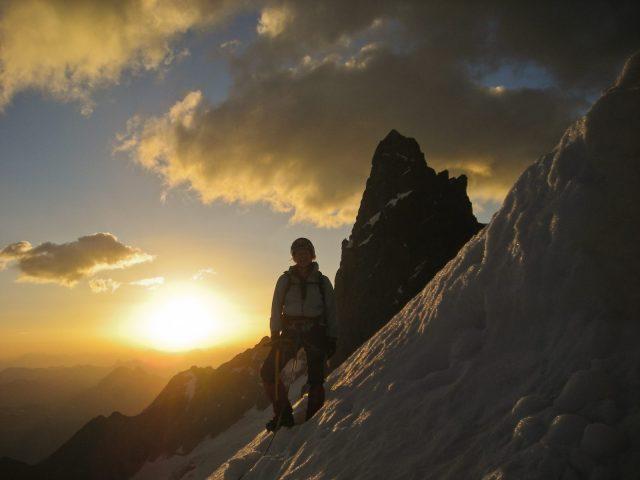 La montagne avec un guide