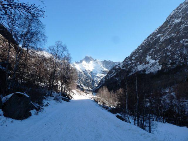 Route de la Bérarde en hiver