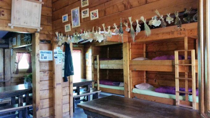 intérieur du refuge de la muzelle