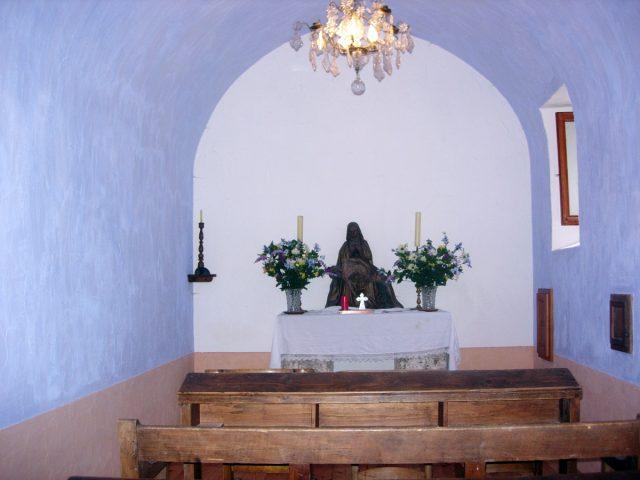 Intérieur de la chapelle du Sellier