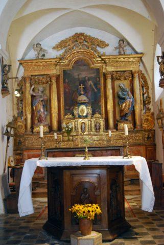 Retable de l'église de Venosc