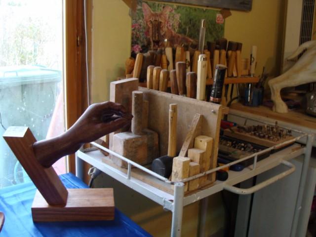 Démonstration de la sculpture sur bois (2)