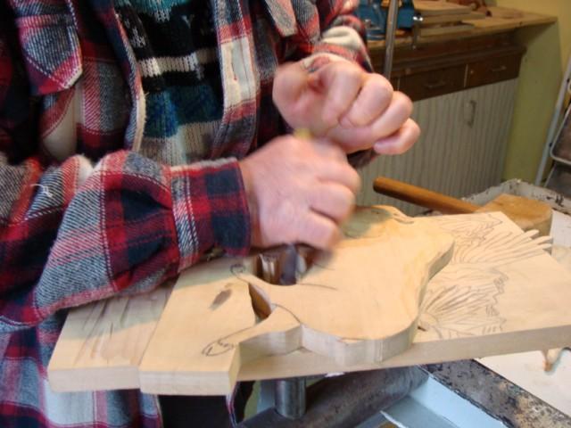 Démonstration de la sculpture sur bois