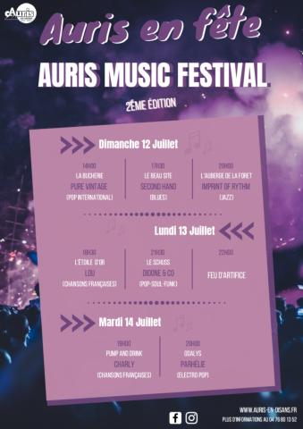 Auris musique festival affiche