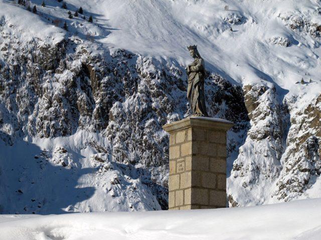 Vierge du Collet en hiver