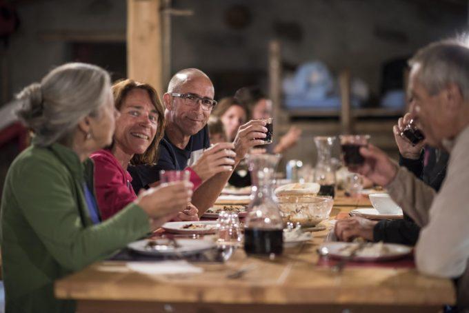 Le dîner au Refuge de la Chamoissière – Villar d'Arène- La Grave