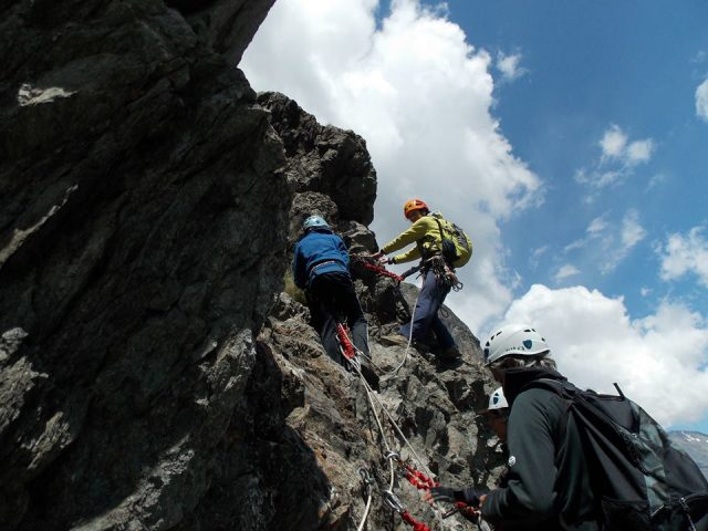 En pleine ascension – Via Ferrata – La Grave
