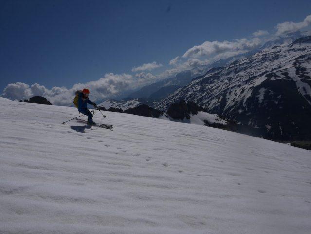 Freerando depuis le Pic Blanc