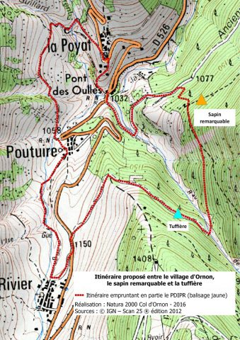 Itinéraire «la boucle d'Ornon»