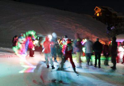 Descente aux flambeaux avec l'Ecole du Ski Français