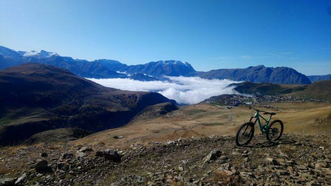 L'Alpe d'Huez vue de la mine de l'Herpie