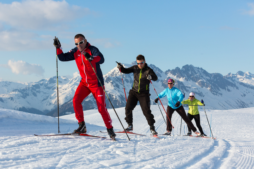 Ski de fond avec l'ESF
