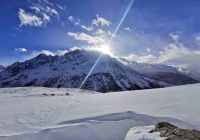 Itinéraire ski de randonnée au lac du Pontet