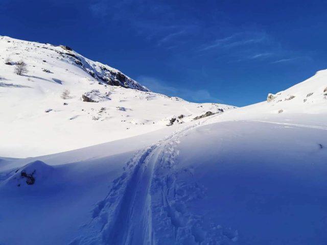 Montée à l'Aiguillon en ski de randonnée