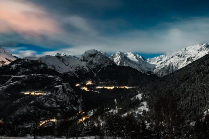 Vue depuis Auris by night