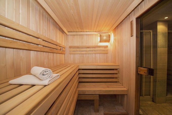 Intérieur sauna