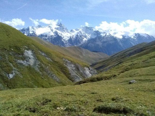 La Meije et le vallon de Martignare depuis le Chazelet